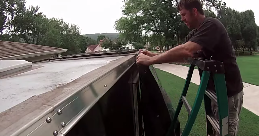 Installing A Tarp Awning On A By Harbor Freight Trailer on Redneck Trailer Supplies