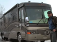 jeff daniels and his RV motorhome