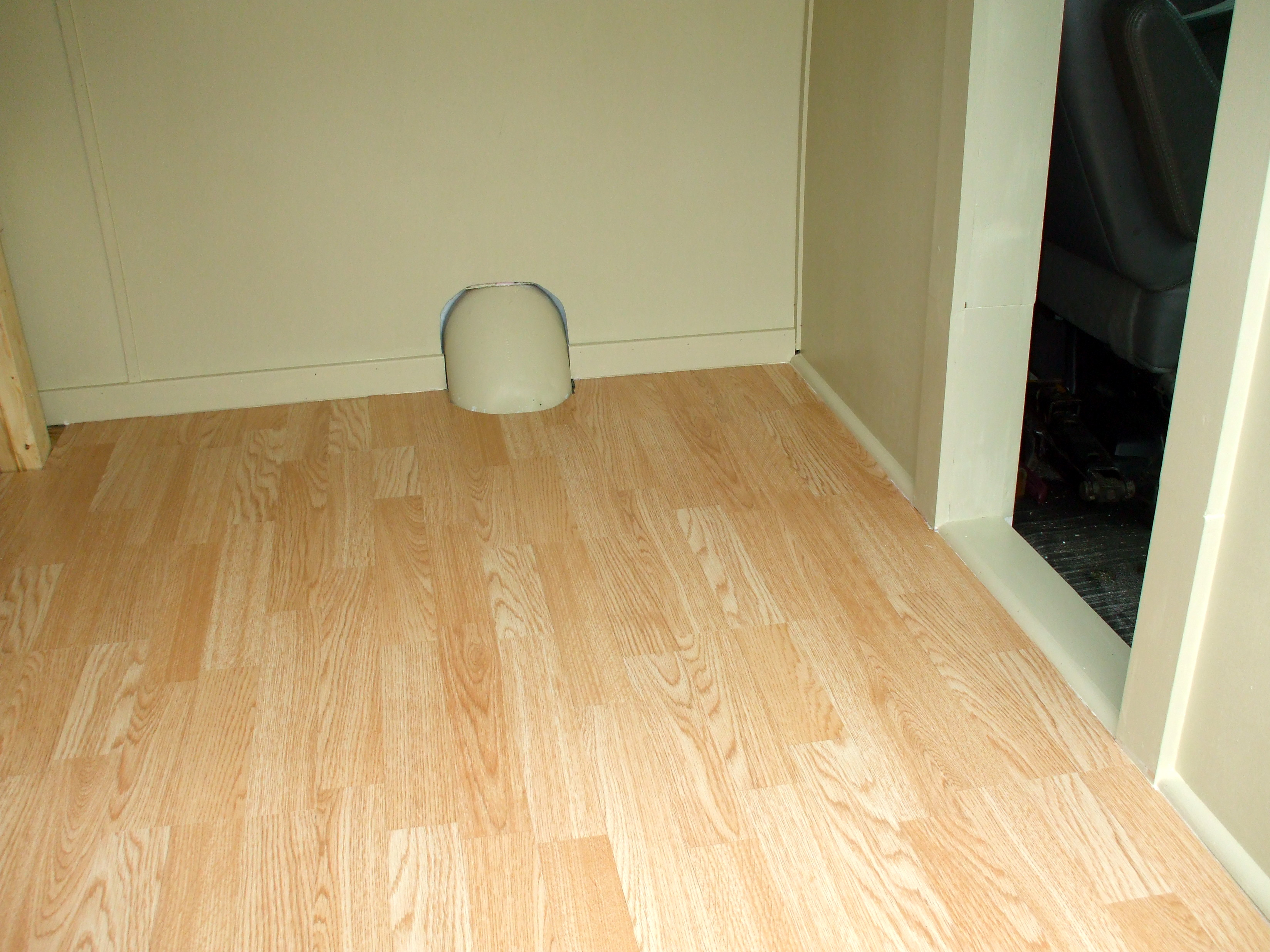 laminate flooring in an RV camper van