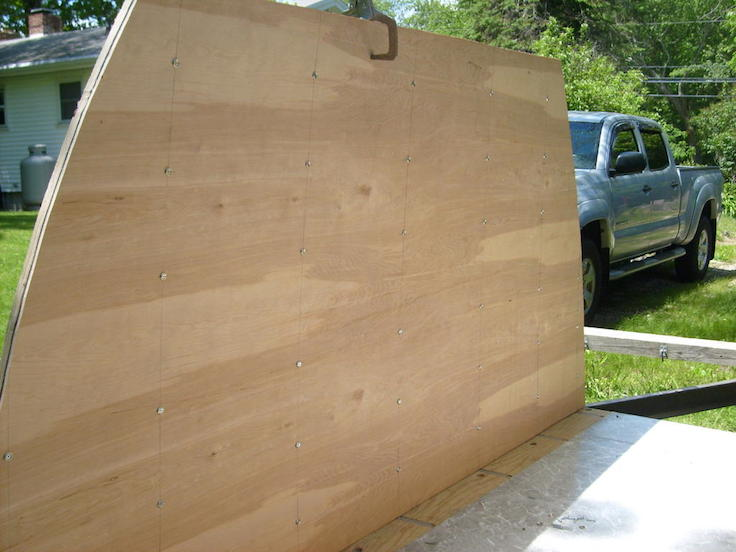 luan plywood was added to the interior