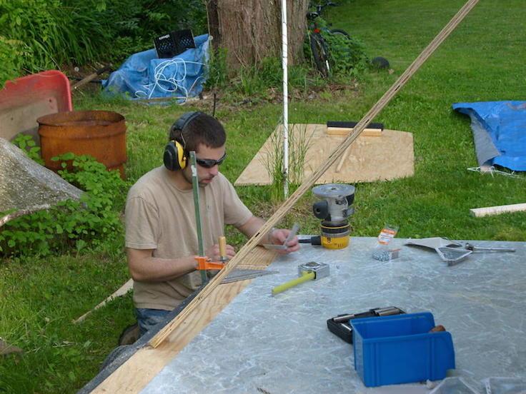 preparing to add the sidewalls