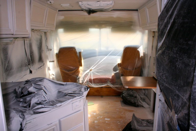 priming of a RV interior in progress
