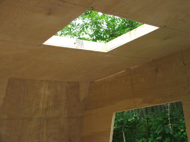 recessed opening for roof vent and fan