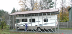 rv carport for a bounder motorhome