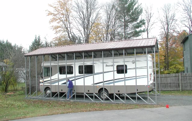 Bundled Bounder: Step by Step Walk Through of What It Takes to Make an RV Carport