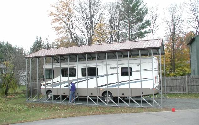 rv carport for a bounder motorhome