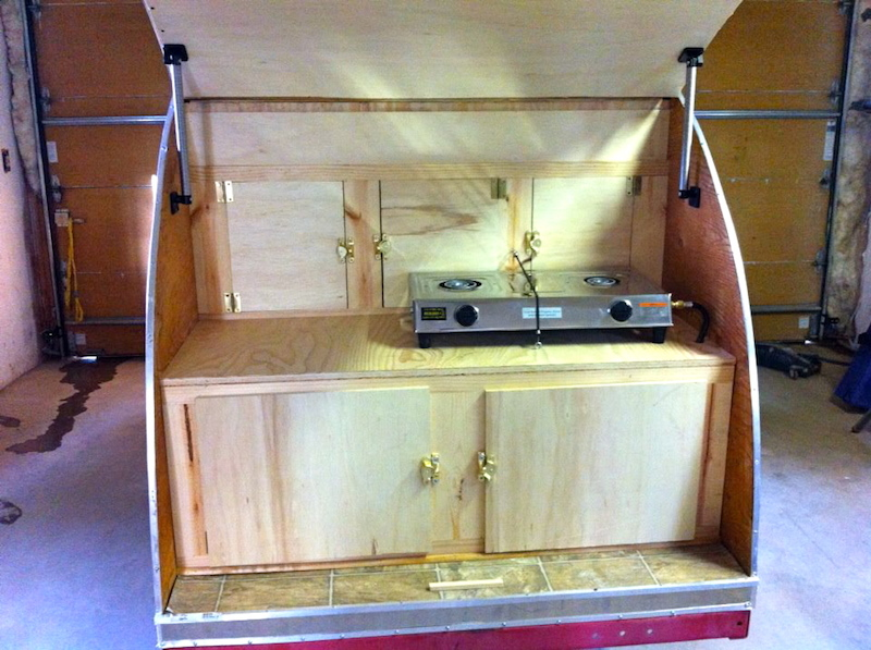 tear drop camper kitchen