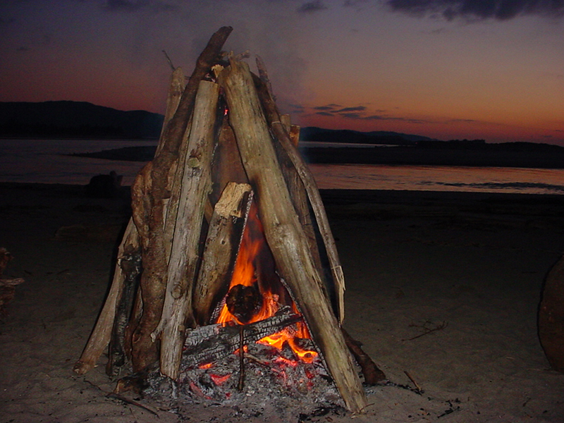 teepee fire soon after lighting