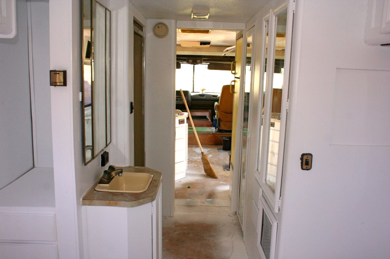 the light paint brightens an RV interior
