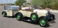 1929 Ford Model A Roadster and teardrop camper