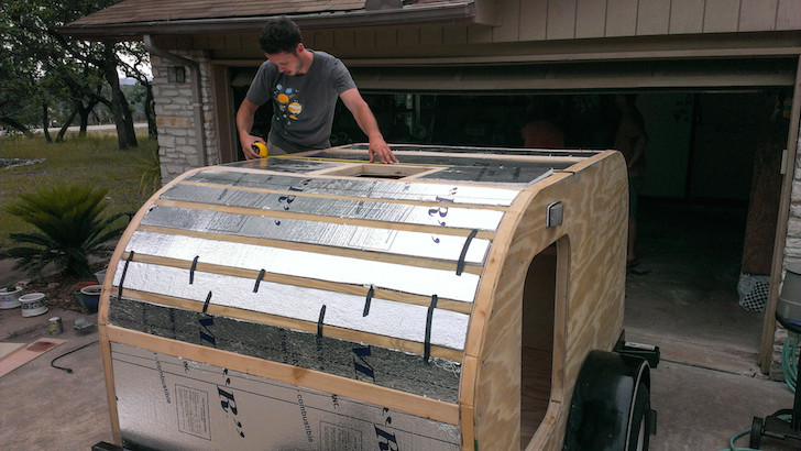 Adding foam board insulation to the roof