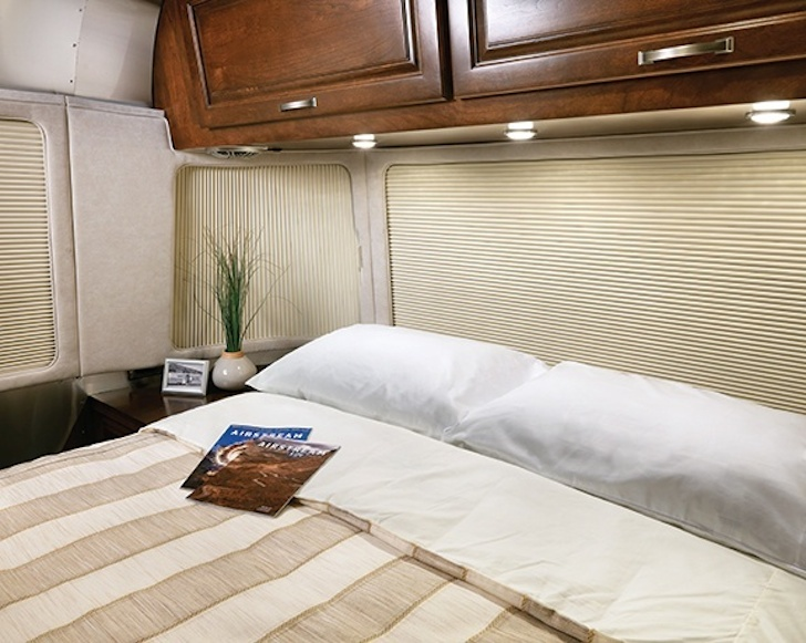 Another shot of the bedroom in the 2015 Airstream Class redesign