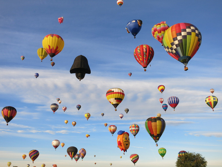 Balloons fill the sky in Albuquerque
