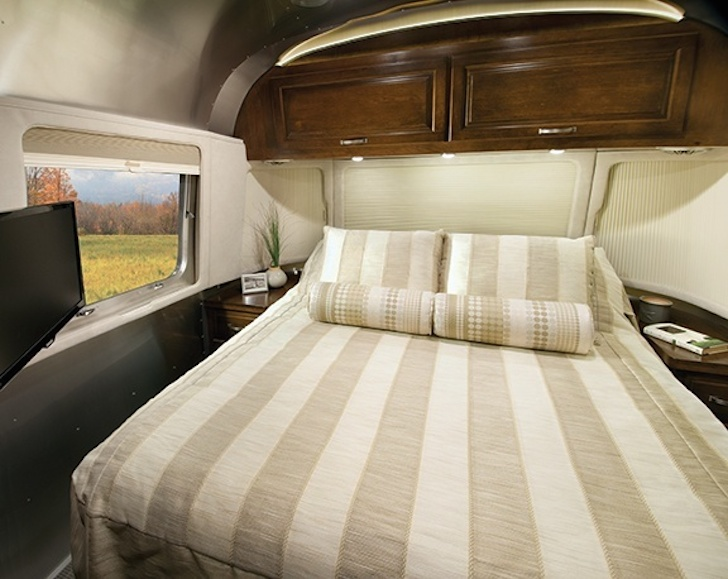 Bedroom in the Airstream Classic for 2015