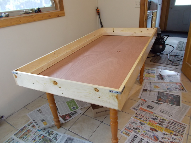 Building the bed for the van camper