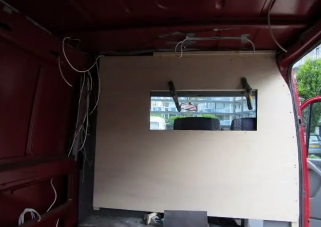 Converting van into mobile home