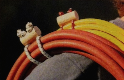 Custom extension cord wraps