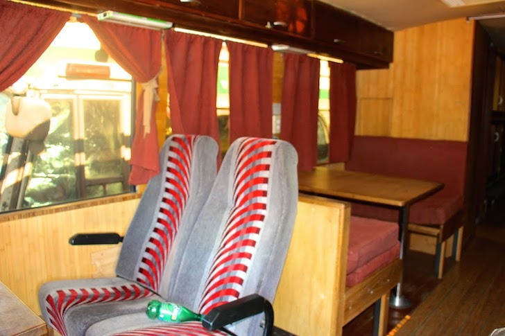 Dining area with a couple of coach seats
