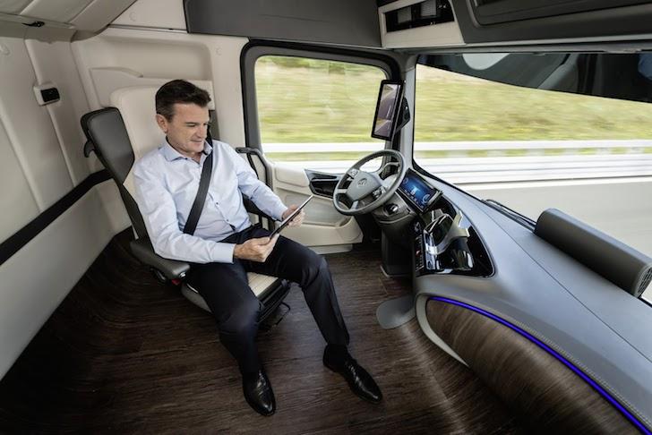 Driver inside cockpit