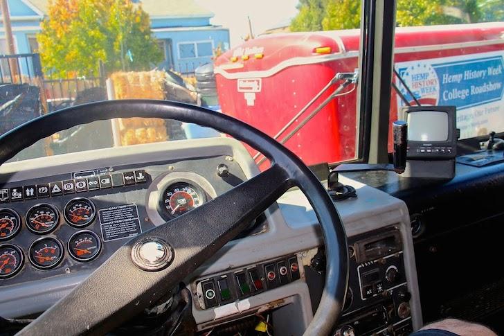 Driver's side of a 1984 Prevost DIY motorhome