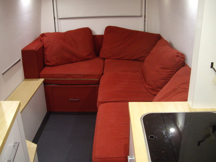 Finished Sofa In A Van Camper