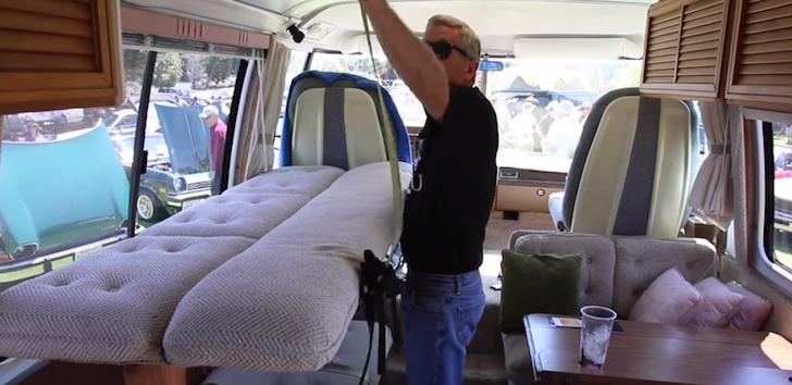 Fold down hammock bed