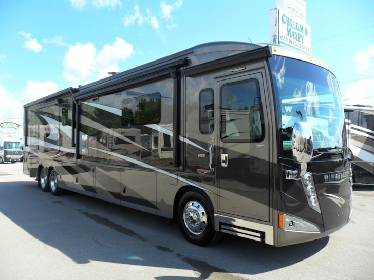 A Winnebago tour bus similar to the one used by Susan Boyle