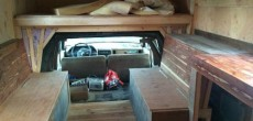 Inside the roomy truck camper
