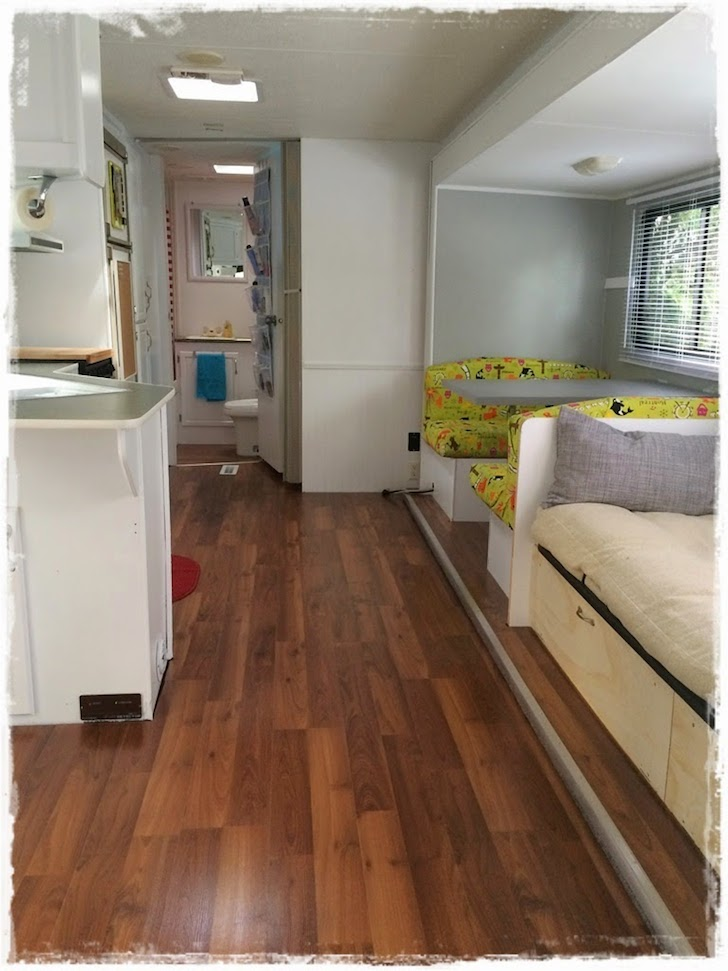 This family saved a 1997 prowler trailer from the grave for Parquet renovation