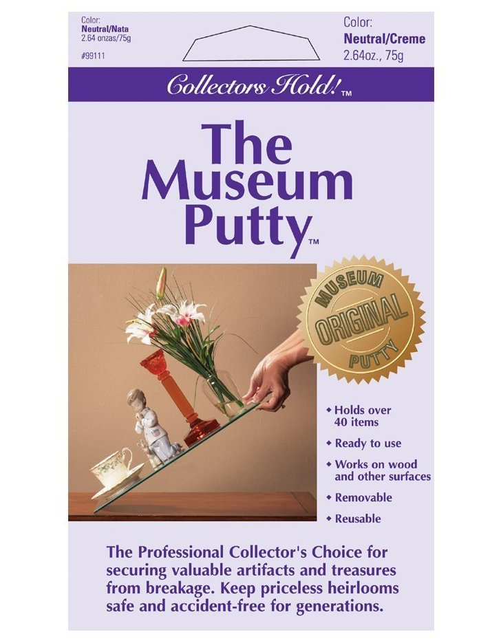 Museum Putty will hold pieces in place