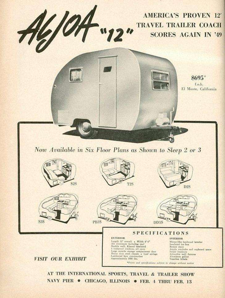 Old Aljoa camper ad