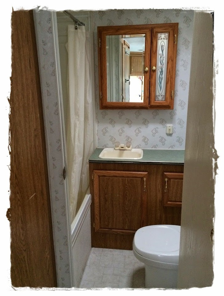 Old Bathroom In A Travel Trailer