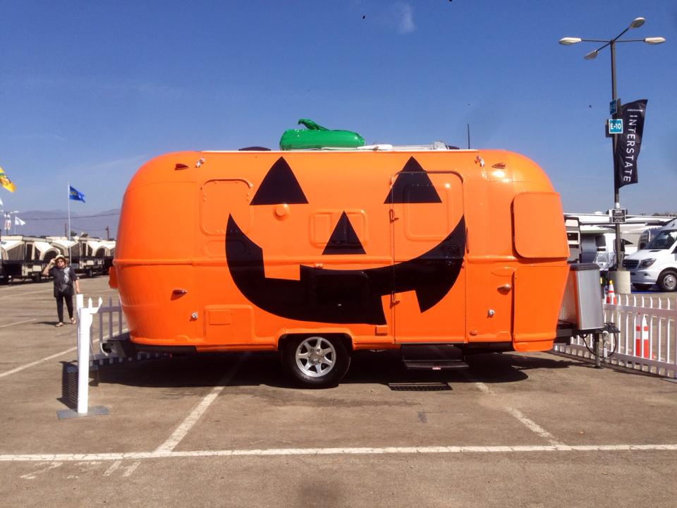 Pumpkin painted trailer