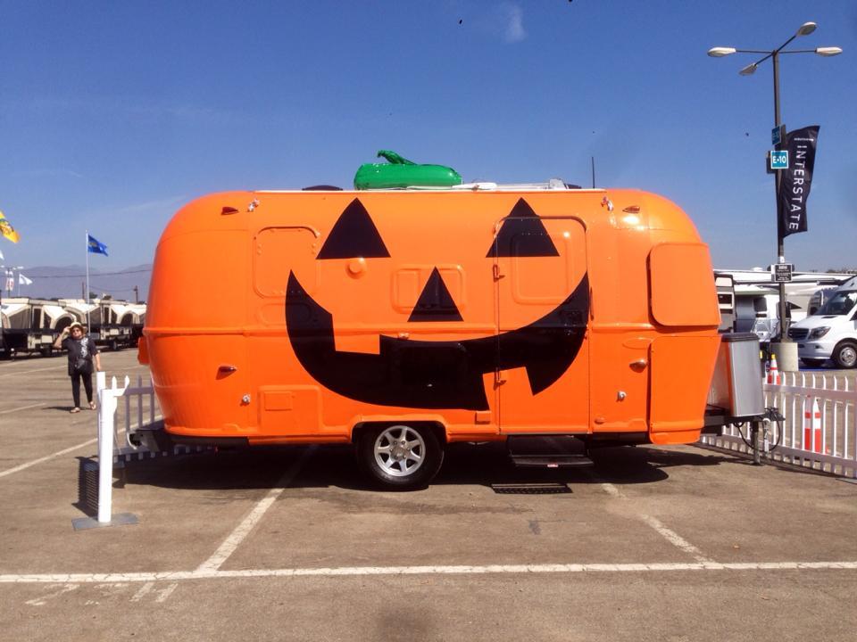 Pumpkin painted trailer