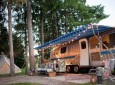 Sarah Schneider's vintage Airstream named the Wandering Star