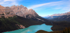 Stunning glacial waters of the Canadian Rockies