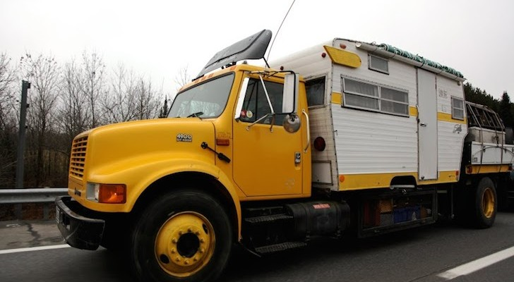 This Happy Guy Made a Truck Camper From a Vintage Shasta Trailer.