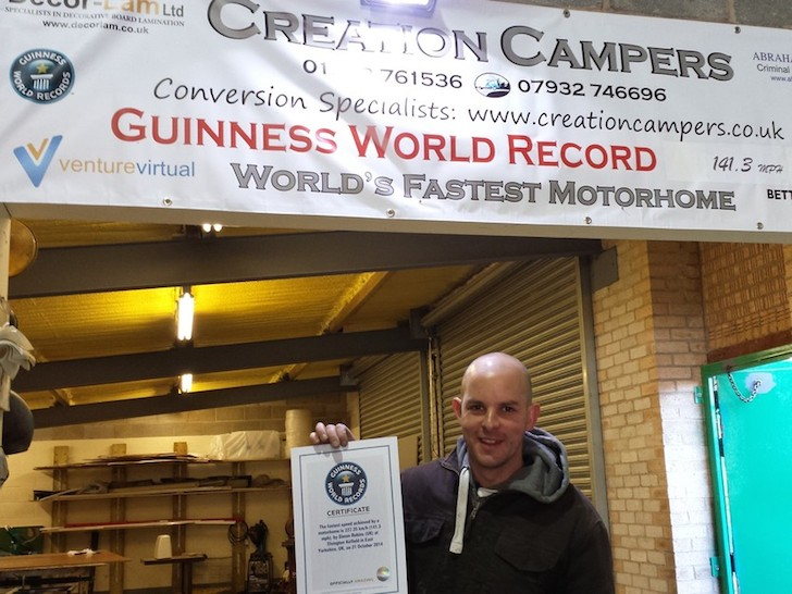 A happy new World Record Holder - Simon Robins