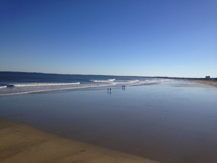Beach near an RV park