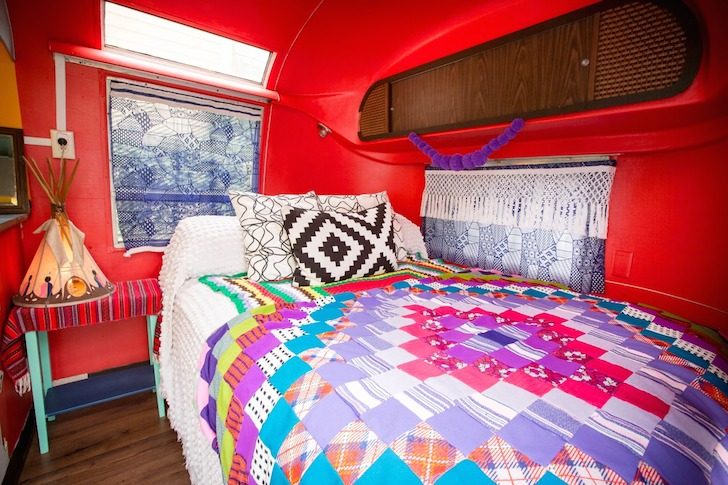 Bedroom in Rusty Lazer's Airstream