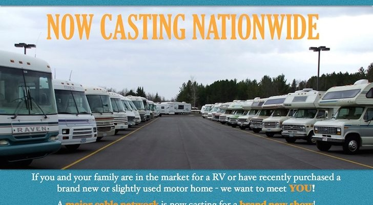 Casting call for new RV-related show