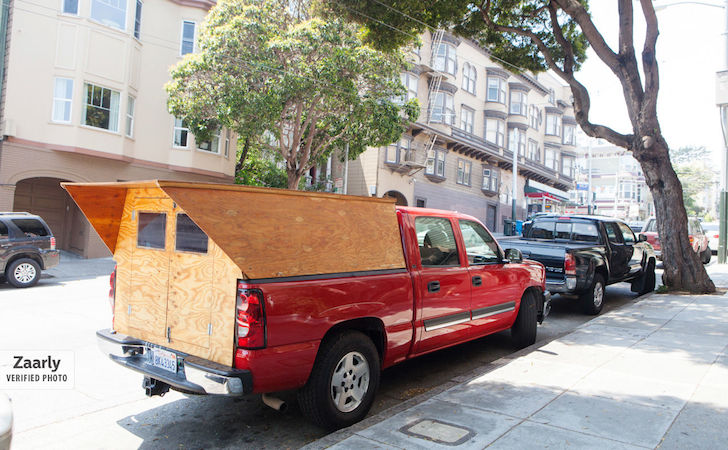 A Handyman Made His Own Custom Wooden Truck Camper.