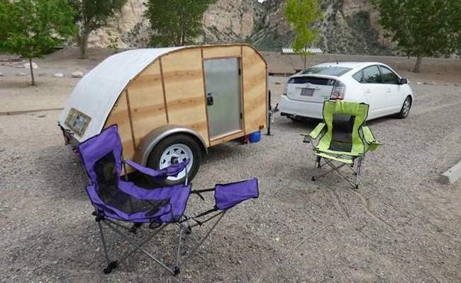 Custom made super light teardrop camper
