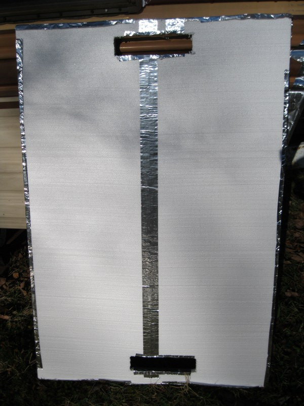 DIY solar window heater for an RV