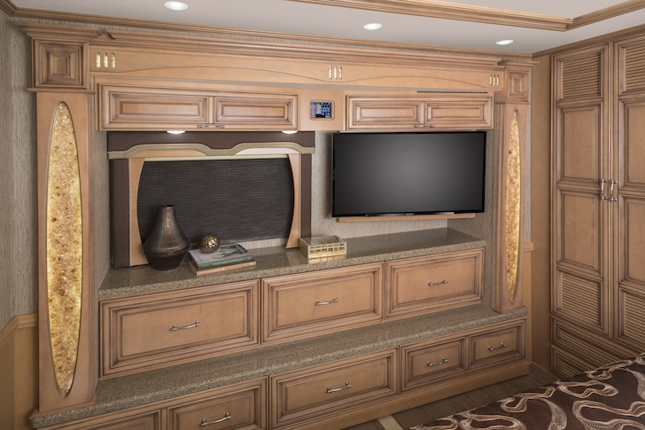 Entertainment system for weekend lounging in a Mountain Aire