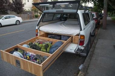 Finished truck camper