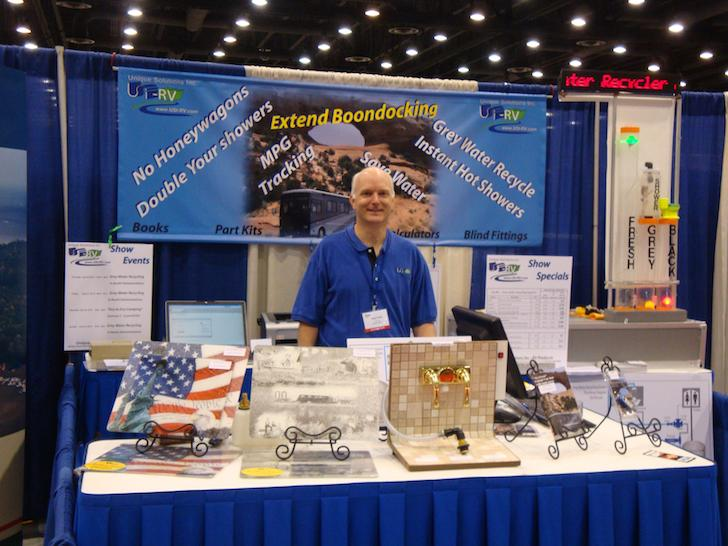 Greg Corwin at the USI RV booth