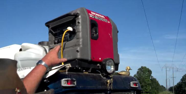 Honda 3000 generator for the AC