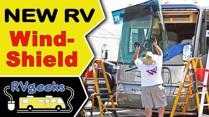 Watch A Motorhome Windshield Replacement Up Close