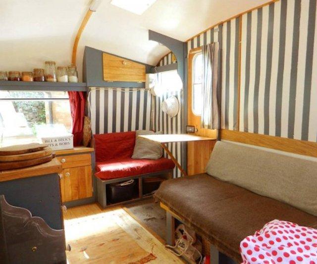 Interior of a Castleton Caravan